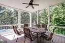 screened porch off family room - 11606 LAWTER LN, CLIFTON