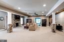 Lower Level recreation room - 11606 LAWTER LN, CLIFTON