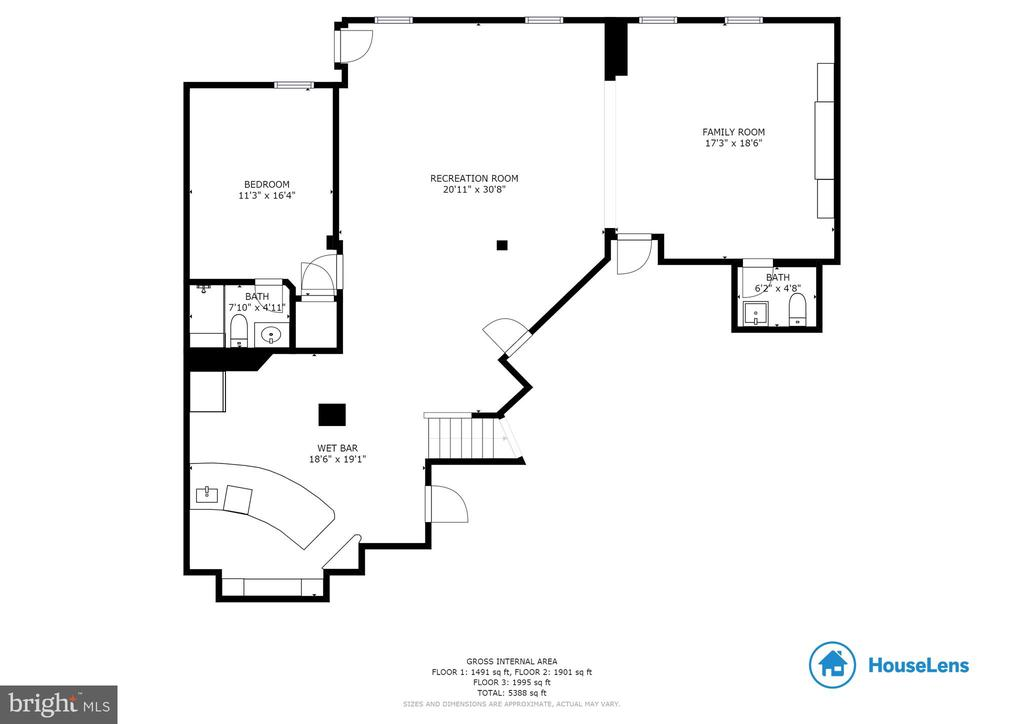 Lower Level Floor Plan - 43353 VESTALS PL, LEESBURG