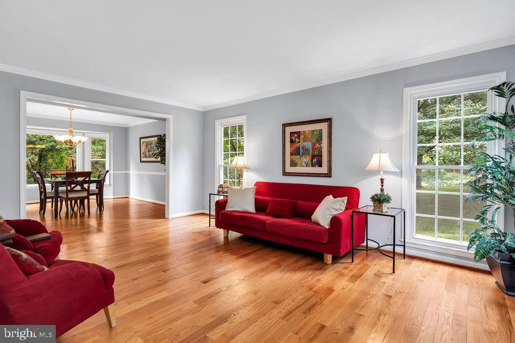The living areas are bright and flow nicely - 4705 LEEHIGH CT, FAIRFAX