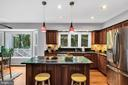 The renovated kitchen offers ample work space - 4705 LEEHIGH CT, FAIRFAX