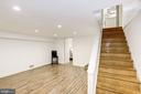 Updated Lower Level Family Room - 3552 S STAFFORD ST, ARLINGTON