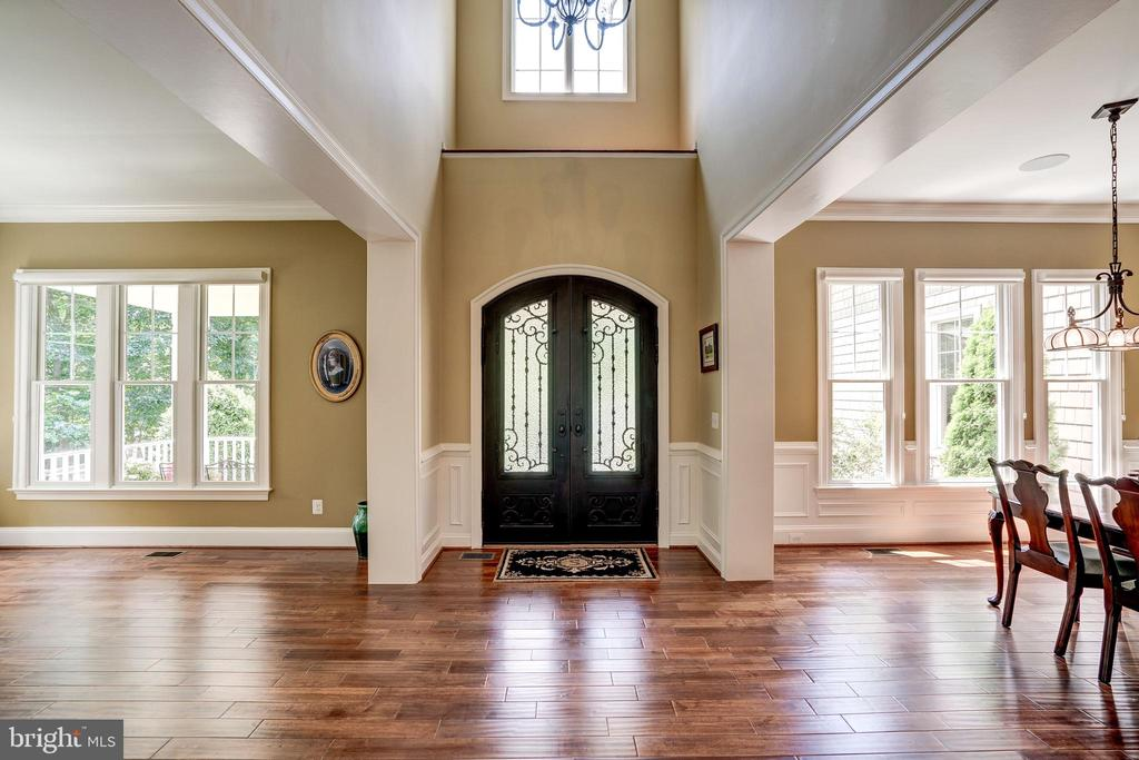 2 story foyer with Double iron door entry - 3001 WEBER PL, OAKTON