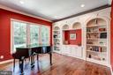 Main level library / office with custom built ins - 3001 WEBER PL, OAKTON