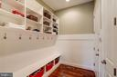Custom built mudroom off 3 car garage - 3001 WEBER PL, OAKTON