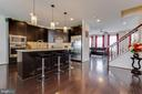 Breakfast bar. - 24684 CAPECASTLE TER, ALDIE