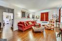 Entertain in the spacious living room - 4040 19TH ST NE, WASHINGTON