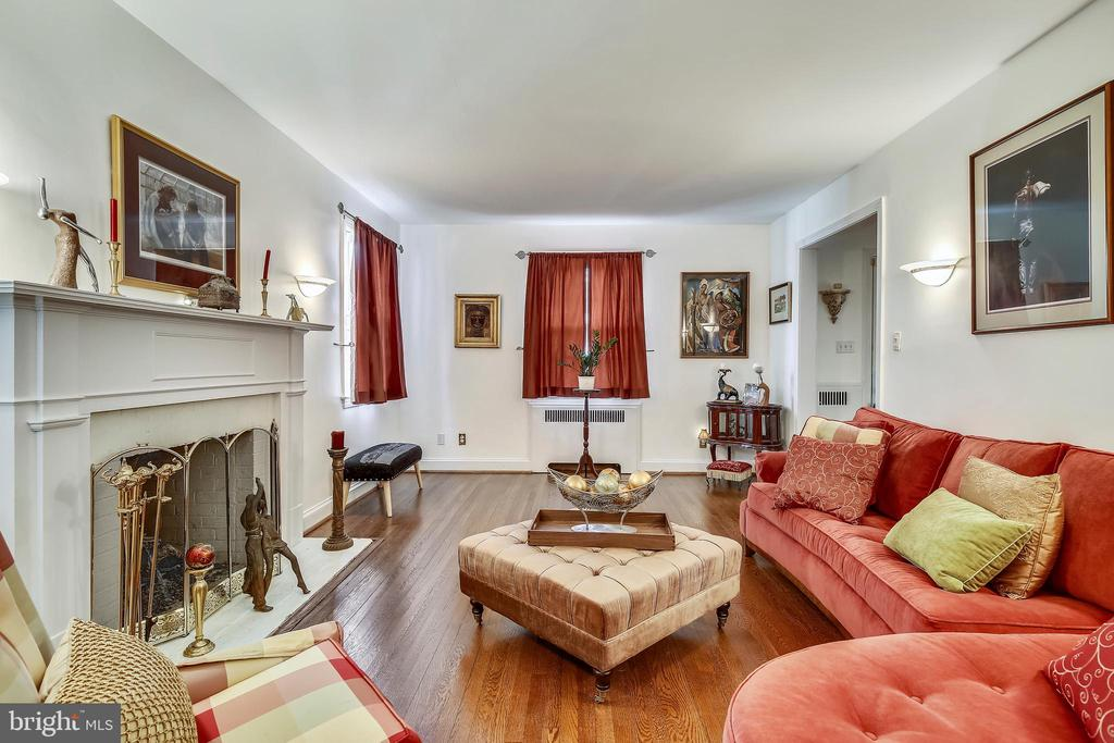 Beautiful hardwood floors in the living room - 4040 19TH ST NE, WASHINGTON