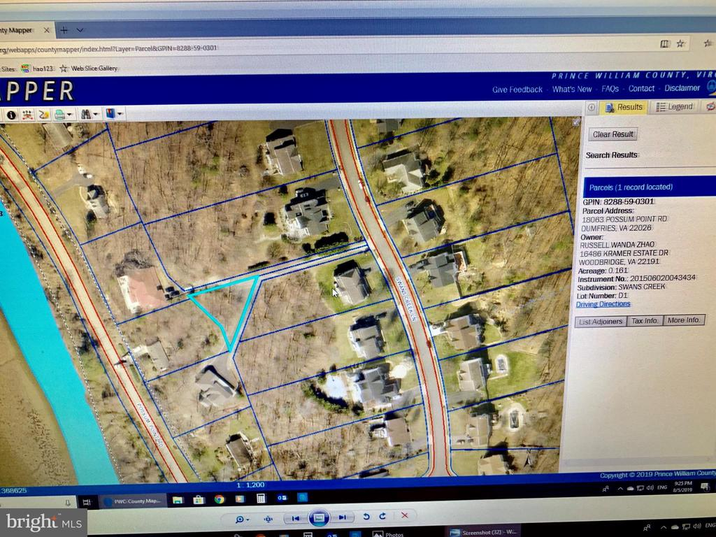 Bonus 0.16 acre lot location - 17972 SWANS CREEK LN, DUMFRIES