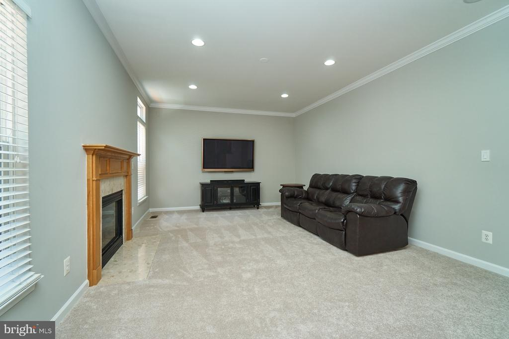 Family room is pre-wired for speakers - 21284 HIDDEN POND PL, BROADLANDS