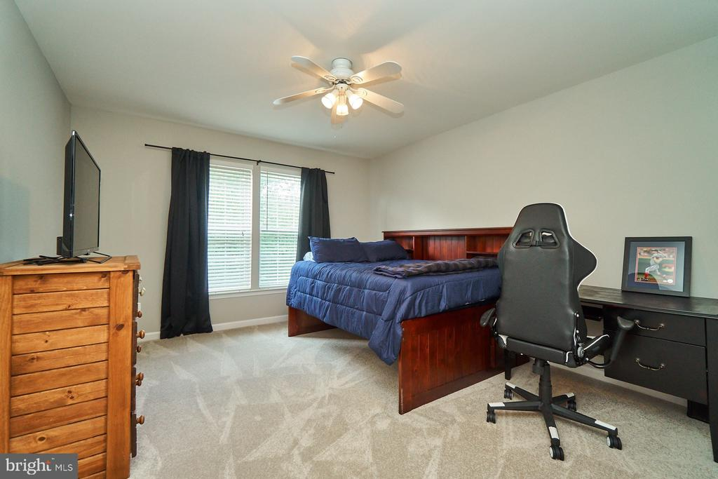 Bedroom with new carpet, paint and a ceiling fan - 21284 HIDDEN POND PL, BROADLANDS