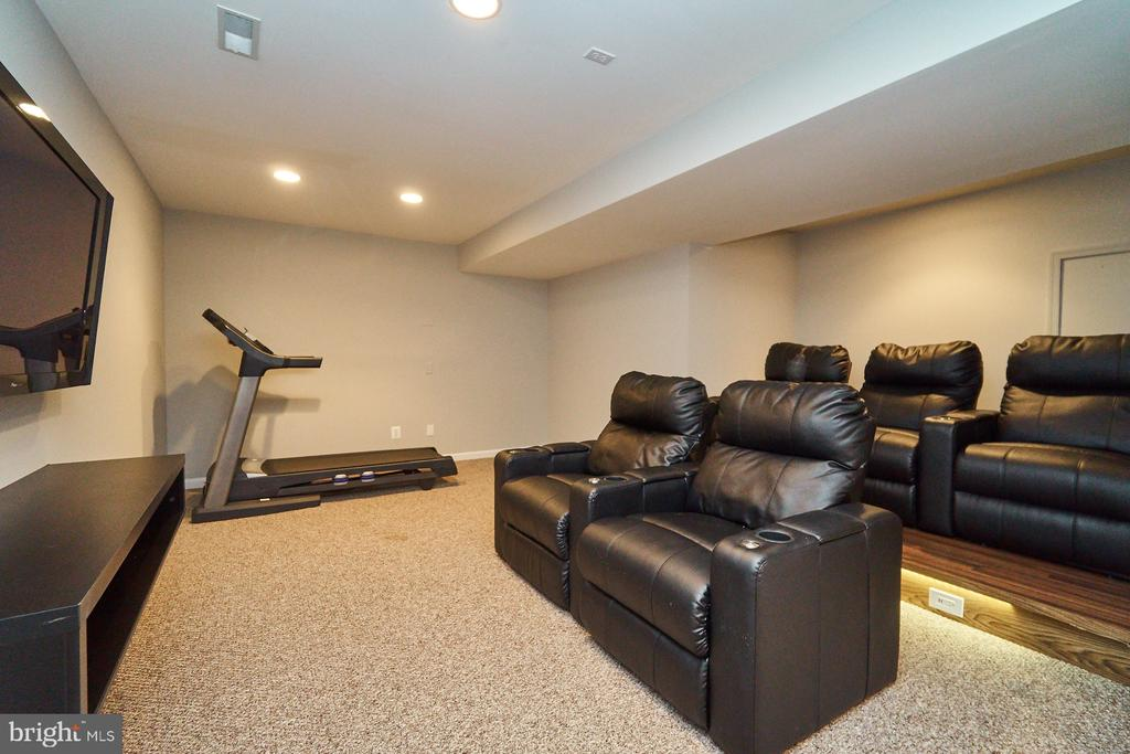Lower level media room - 21284 HIDDEN POND PL, BROADLANDS