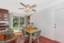Dining Area with Slider to Back Yard - 5400 RIDGE RD, MOUNT AIRY