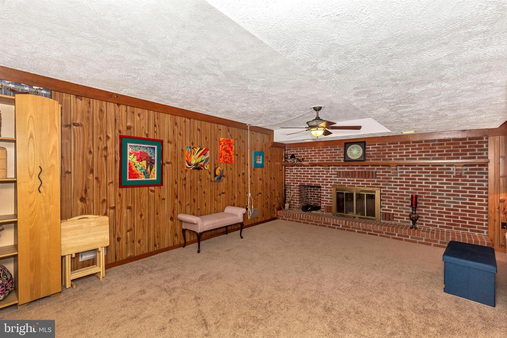 Huge Family Rec Room with Fireplace (26'x20') - 5400 RIDGE RD, MOUNT AIRY