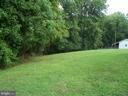 Rear yard that backs up to the woods - 195 BEREA CHURCH RD, FREDERICKSBURG