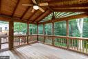 Fantastic porch for entertaining - 8419 RAINBOW BRIDGE LN, SPRINGFIELD