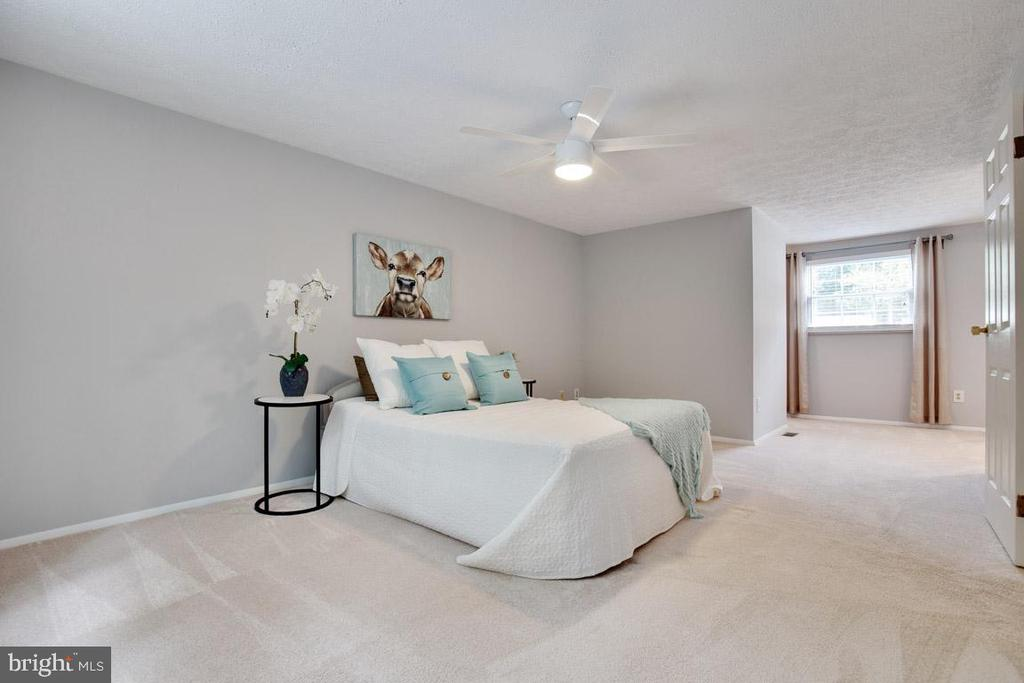 HUGE master bedroom - 8419 RAINBOW BRIDGE LN, SPRINGFIELD