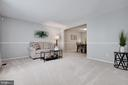 Spacious living room - 8419 RAINBOW BRIDGE LN, SPRINGFIELD