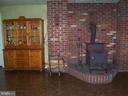 Wood Stove in Family room. - 195 BEREA CHURCH RD, FREDERICKSBURG