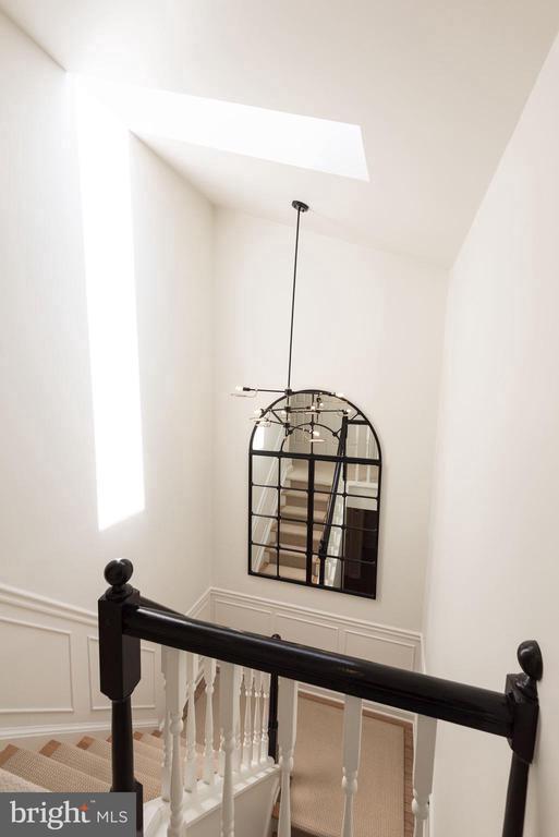 Sun-lit stairwell with sky light - 1739 N WAKEFIELD ST, ARLINGTON