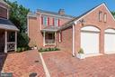 Stately brick exterior with one car garage - 1739 N WAKEFIELD ST, ARLINGTON