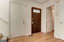 Entry with half bath and coat closet - 1739 N WAKEFIELD ST, ARLINGTON
