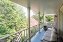 Main Level deck with views of garden - 1739 N WAKEFIELD ST, ARLINGTON