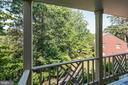 Main level deck treetop views - 1739 N WAKEFIELD ST, ARLINGTON