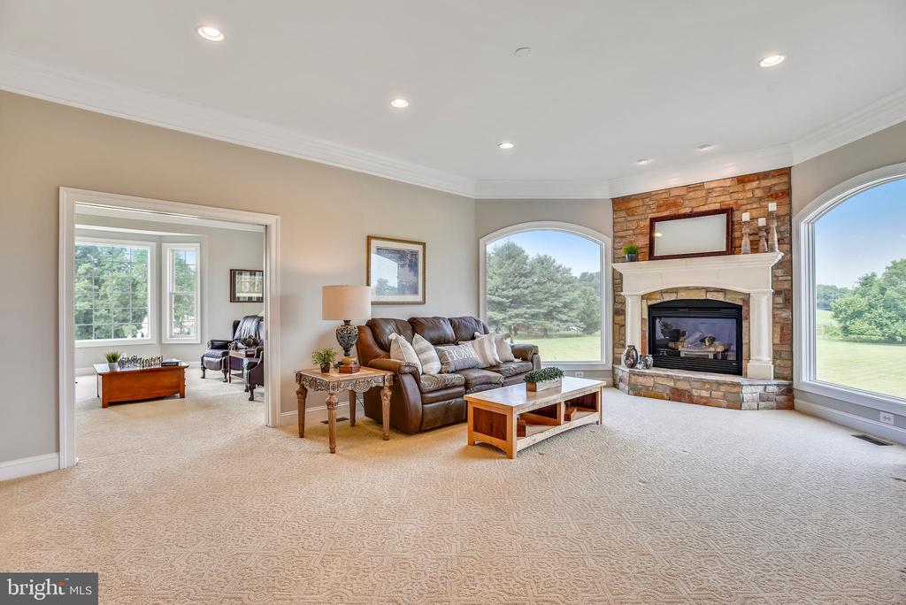 Family Room w/Gas Fireplace & Stone Mantle - 16875 DETERMINE CT, LEESBURG