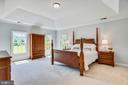 Master Bedroom w/Tray Ceiling - 16875 DETERMINE CT, LEESBURG