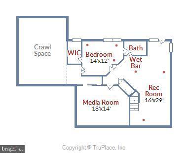 Lower Level Floor Plan - 5104 DOYLE LN, CENTREVILLE