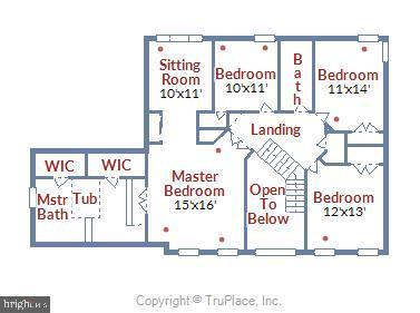 Upper Level Floor Plan - 5104 DOYLE LN, CENTREVILLE