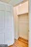 2nd master bedroom closet, w/ storage alcove - 3021 S BUCHANAN ST, ARLINGTON