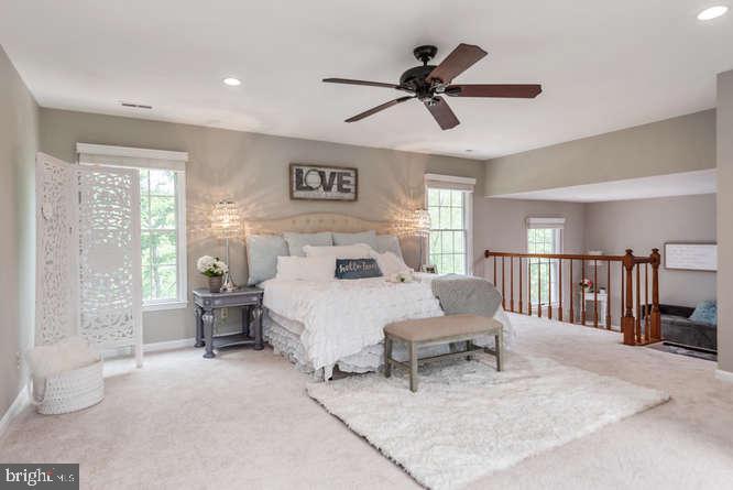 Light and spacious master bedroom - 30 BRIDGEPORT CIR, STAFFORD