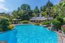 View from Diving Board to Poolhouse. - 10114 LAWYERS RD, VIENNA