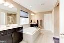 MASTER BATHROOM - LARGER THAN MOST BEDROOMS!!! - 8717 LIBEAU DR, MANASSAS