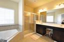 Master Bath - Tile, Double Vanity, Sep Tub/Shower - 41 NIDAY DR, STAFFORD