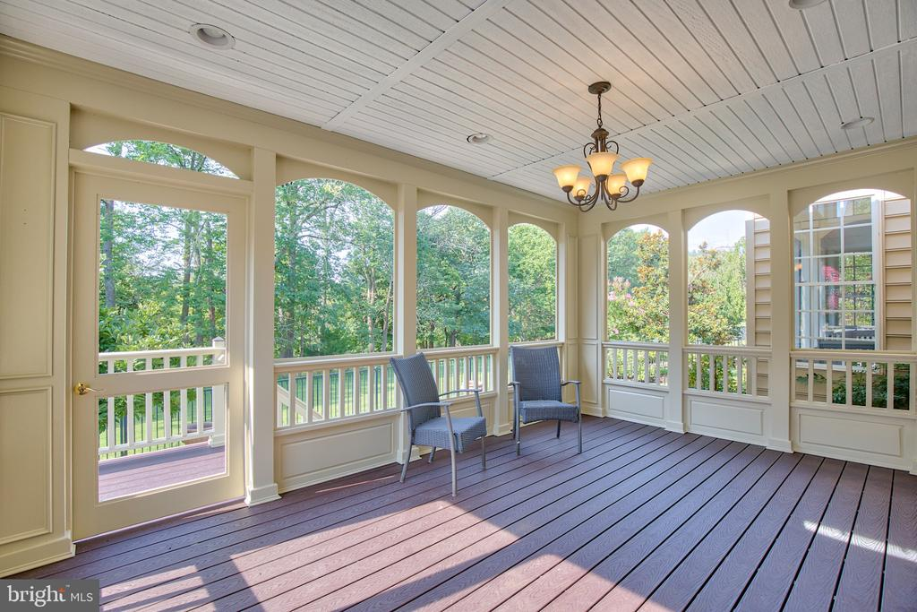 Screened porch off off the kitchen - 43535 FIRESTONE PL, LEESBURG
