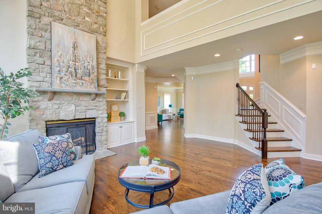 Back staircase - 43535 FIRESTONE PL, LEESBURG