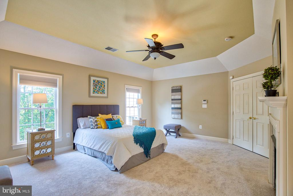 Coffered ceiling in the Master Suite - 43535 FIRESTONE PL, LEESBURG