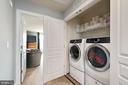 Upper level washer and dryer - 16651 DANRIDGE MANOR DR, WOODBRIDGE