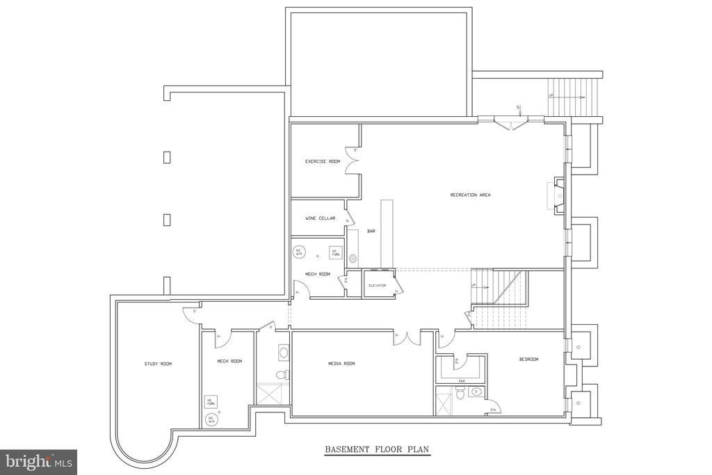 Lower Level Floor Plan - 1048 RECTOR LN, MCLEAN