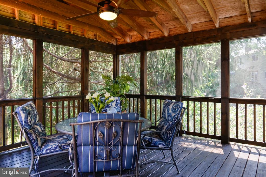 Screened in porch - 909 CANTLE LN, GREAT FALLS