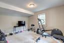 Lower level bedroom - 12208 FAIRFAX STATION RD, FAIRFAX STATION