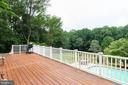 Deck has steps leading to the lower level - 12208 FAIRFAX STATION RD, FAIRFAX STATION