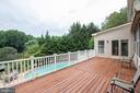 Entertainment sized deck overlooking pool - 12208 FAIRFAX STATION RD, FAIRFAX STATION