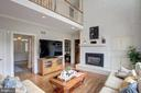 Family Room opens to upstairs - 12208 FAIRFAX STATION RD, FAIRFAX STATION