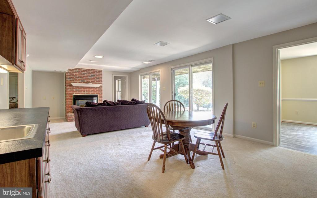 Rec room with walk out to back patio - 12208 FAIRFAX STATION RD, FAIRFAX STATION
