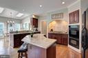 Great open kitchen design - 12208 FAIRFAX STATION RD, FAIRFAX STATION