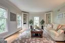 Living Room provides a quiet area to enjoy nature - 12208 FAIRFAX STATION RD, FAIRFAX STATION